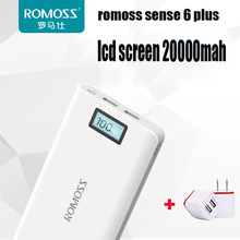 Romoss lcd screen 20000m mobile power general charge treasure sense6  vinsic power bank battery pack pover bank