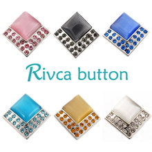 D02125 6 Color High Quality Charm Rhinestone Styles Alloy Ginger Snap Button Bracelets Woman Rivca Snap