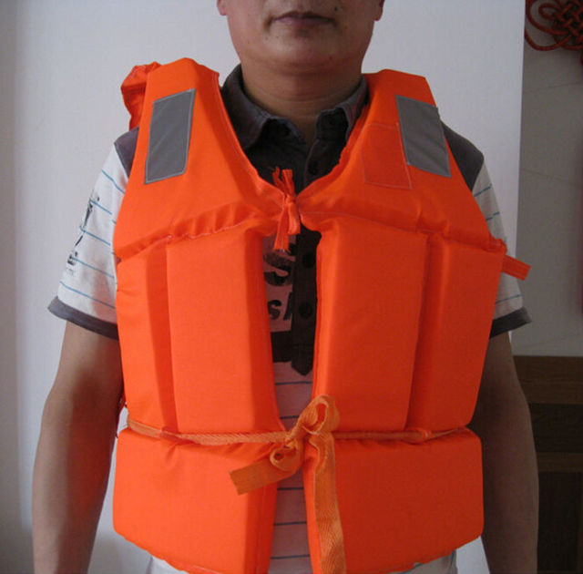 200D High Quality Oxford Cloth Ship Life Jacket Drift Vest Water Safety Products Free
