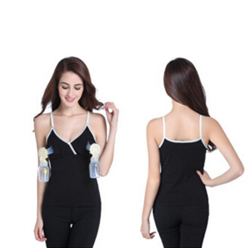 Hands-free Breast Nursing Bra Maternity Strap Vest Breastfeeding Tops for Pregnant Women -17 S7JN