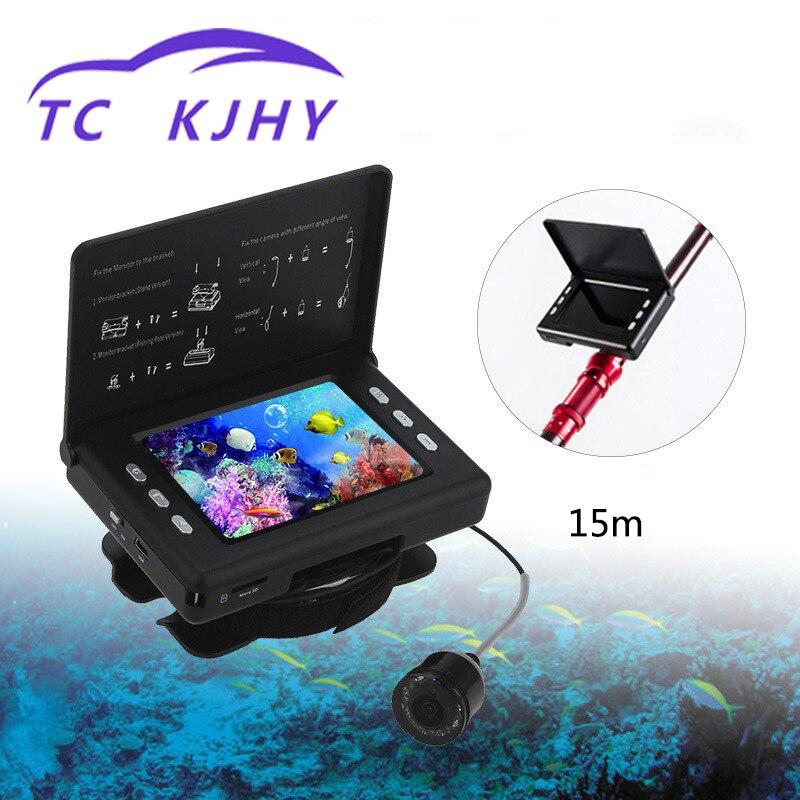Détecteur de poisson 3.5 pouces haute définition Marine Gps 15 M détecteur de poisson appareil de pêche à la ligne visuel caméra sous-Marine recherche de poissons