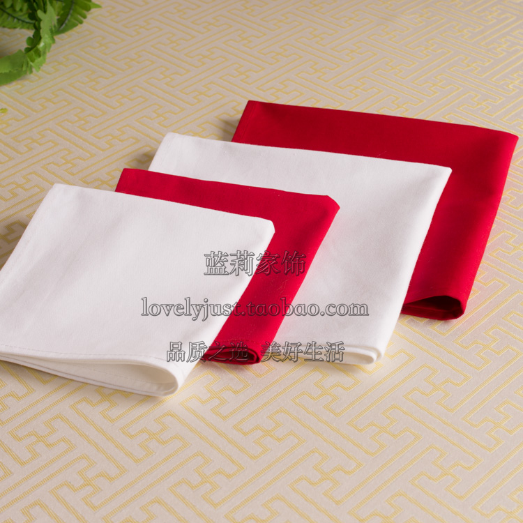 2pcs/lot Table Napkin Diner Handkerchief Hanky Square Linen for Wedding Party Hotel Supplies