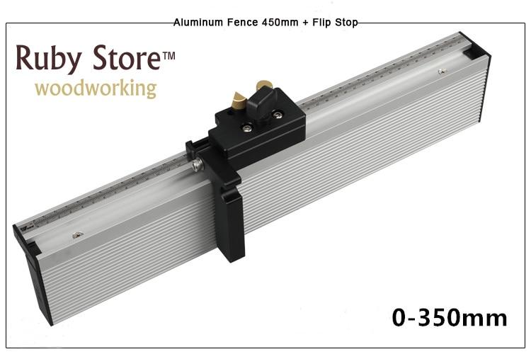 Miter Gauge Aluminium Fence 450mm/600mm/800mm with Flip StopMiter Gauge Aluminium Fence 450mm/600mm/800mm with Flip Stop