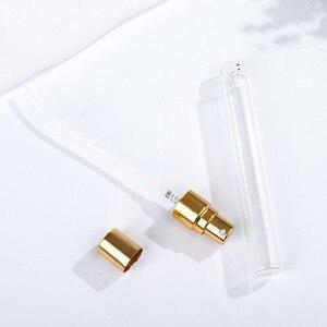 Image 3 - 50pcs 2ml 3ml 5ml 10ml Parfum Verstuiver Viaggi Spray Bottiglia Per Profumo Portatile di Vuoto Cosmetici contenitori Con Pompa In Alluminio