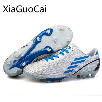高品質春ユニセックスサッカーシューズ子供/大人の長いスパイクトレーニングシューズ通気性耐久性の靴送料無料