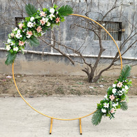 New Arrival Upscale Wedding Centerpieces Ring Arch with Flower Set for Party Decoration Props Supplies Free Shipping