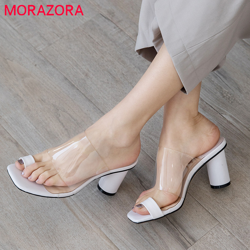 MORAZORA 2019 hot sale women sandals Sequin +genuine leather summer shoes slip on high heels shoes woman dress shoes black MORAZORA 2019 hot sale women sandals Sequin +genuine leather summer shoes slip on high heels shoes woman dress shoes black