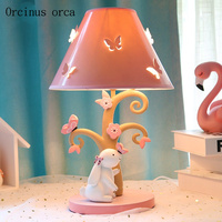 Cartoon creation rabbit desk lamp girl bedroom Princess Room children's room lamp lovely LED animal table lamp free shipping