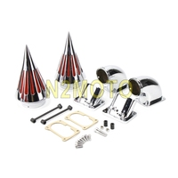 Motorcycle Aluminum Dual Spike Air Cleaner Intake Filter Kit For Suzuki Boulevard M109R All Year Chrome Cone Air Intake Filter