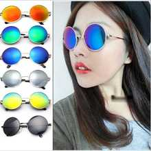 2017Hot Vintage Round lens Sunglasses Men women Polarized Gafas Oculos Retro Coating Sun Glasses Round