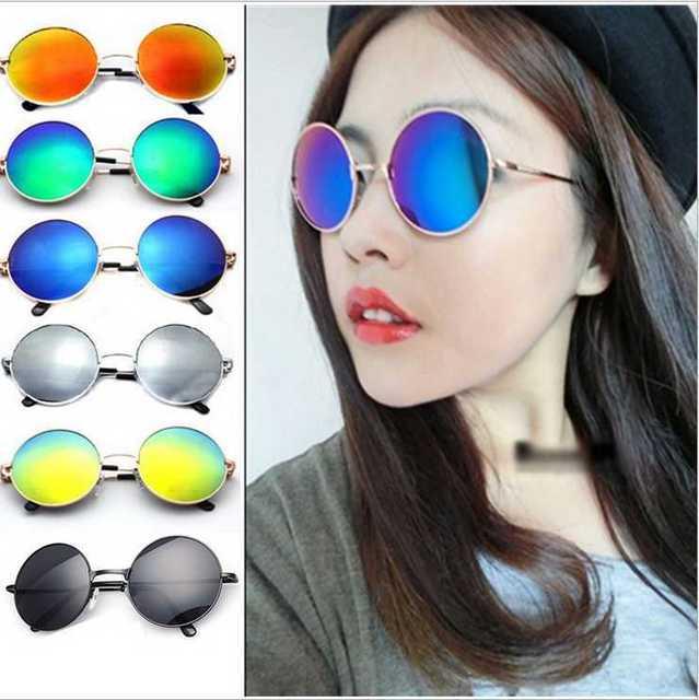 09d752c558 2017hot vintage lente redonda Gafas de sol hombres/mujeres gafas  polarizadas gafas oculos retro revestimiento