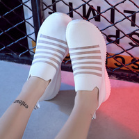 Running Casual Slip on Shoes for Women 2019 Mesh Breathable Platform Sneakers Walking Jogging Shoes Fitness Sport Woman Sneakers