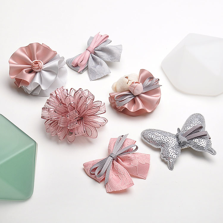 6pcs Highend Handmade Flowers Butterfly Kids Hair Clips Children Headwear Girls Hair Accessories Baby Hairpins Princess Barrette
