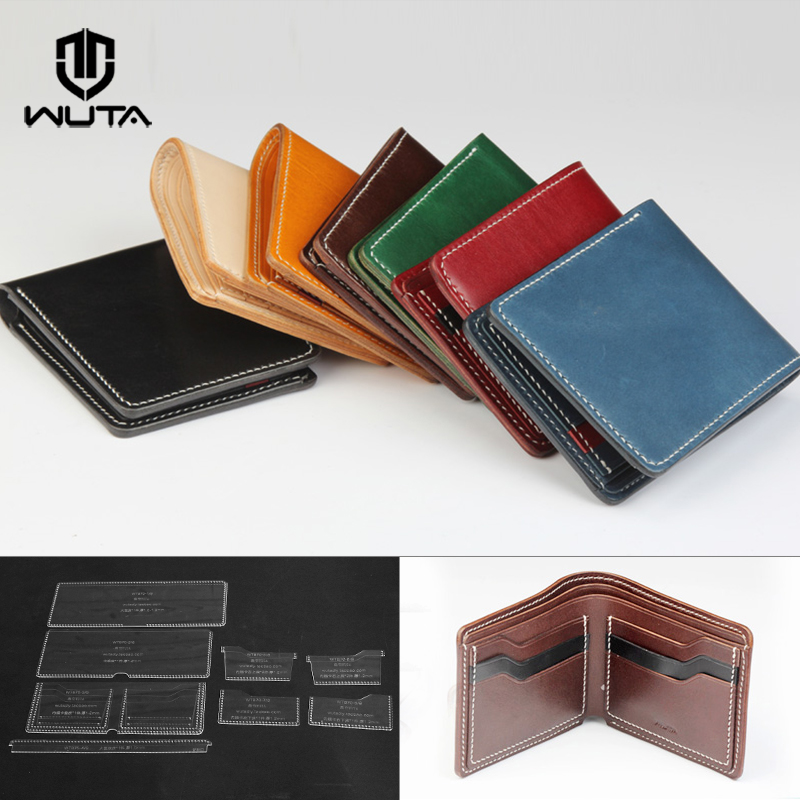 WUTA 870 Classic Wallet Acrylic Template Leathercraft Pattern Set Clear Model for Making Men/women Business Short Wallet Purse