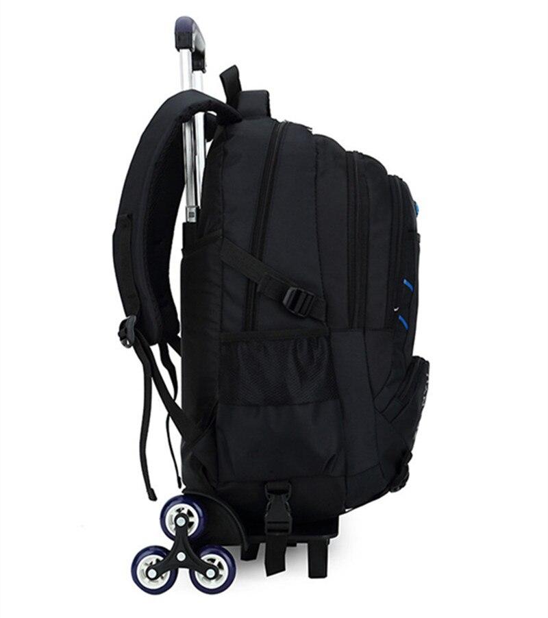 Najnowsze wymienne torby szkolne dla dzieci z 6 koła schody dla dzieci chłopcy dziewczęta wózek tornister bagaż torby na książki plecak na kółkach w Torby szkolne od Bagaże i torby na  Grupa 3