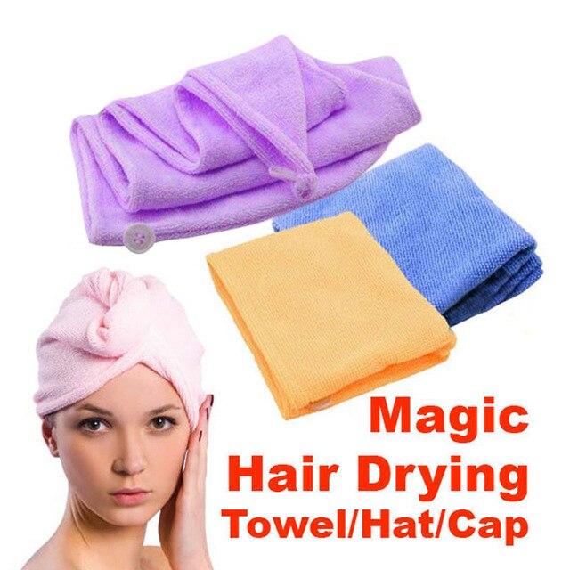 NEW Magic Hair-essiccazione Asciugamano Coda di Cavallo Cap Holder per la Signor