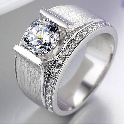 1carat 18k White Gold Round Brilliant Magnificent Simulate Diamond