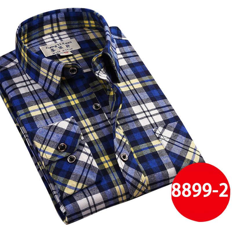 ブランドメンズカジュアルシャツ2017新しい春のファッションスリムフィットロングスリーブ男性チェック柄綿メンズドレスソーシャルシャツプラスサイズ3xl x408