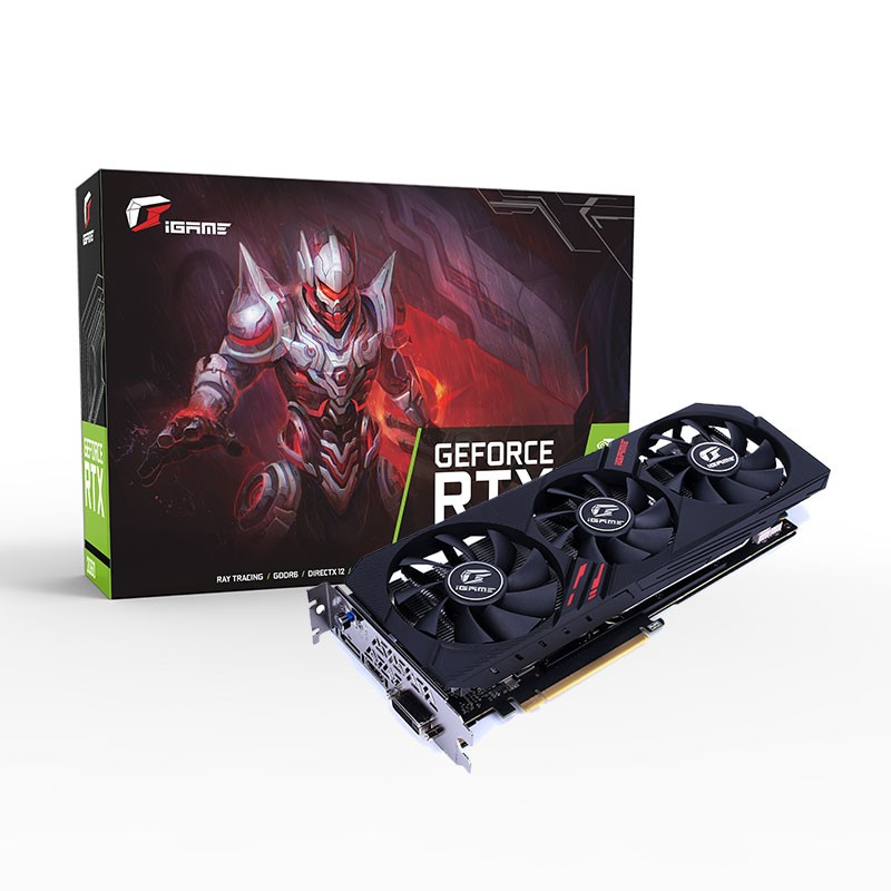 COLORFUL NVIDIA <font><b>GeForce</b></font> RTX 2060 iGame Ultra Gaming Video Card Graphics Card 6GB GDDR6 192Bit DP+HDMI+DVI OC Clock 1710MHz RGB image