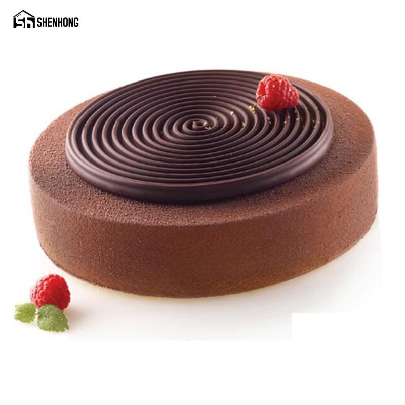 SHENHONG Mix di Prodotto Tourbillon Stampo In Silicone 2 Pz/set 3D Stampi Torta Mousse di Cioccolato Moule Pasticceria Bakeware Dessert Art Pan