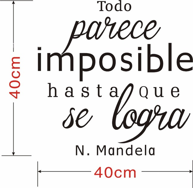 US $6 55 26% OFF|Creative Spanish Inspiring Quotes Everything Is Possible  Wall Sticker Wall DecalsLiving Room Home Decor Bedroom Kids Wall Decal-in