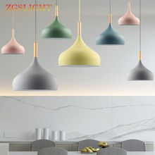 Modern Pendant Light lamp Creative Restaurant lampshade Living Dinning Room Bar Coffee Shop Hanging Lighting Colorful Macaron(China)