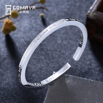 f95199a80000 2019 brazalete Vintage de plata de ley 999 pulseras para las mujeres  Vintage hecho a mano puro el budismo tibetano joyería de mujer de pulsera