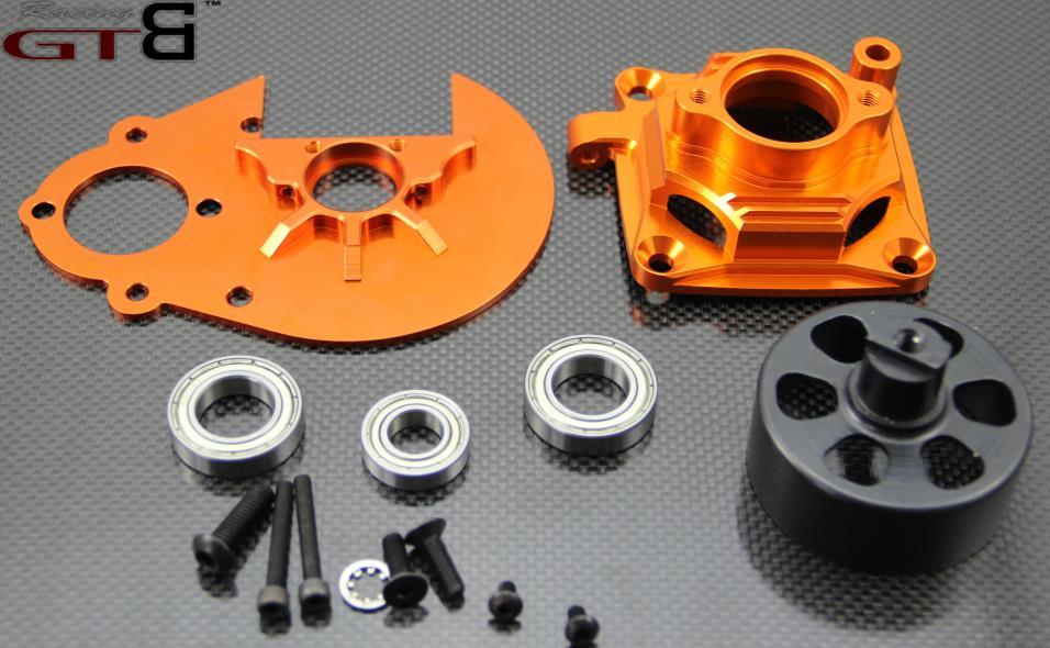 ЧПУ BAJA Шестерня+ велосипедный колокол сцепления+ звонок сцепления-оранжевый 1/5 масштаб HPI BAJA 5B 5T 5SC GR060