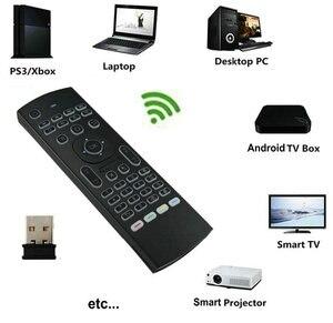 Image 2 - MX3 подсветка Голосовая воздушная мышь мини клавиатура 5 ИК обучение для Shield TV android smart tv box Raspberry pi 3 Пульт дистанционного управления