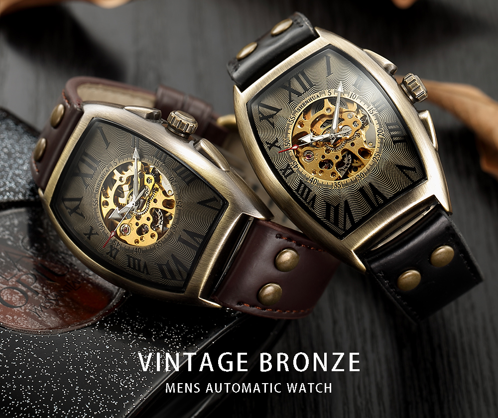 Shenhua 2019 vintage relógio automático masculino relógios