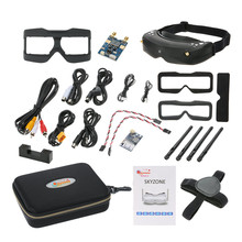 цена на Skyzone SKY02S V+ 3D FPV Goggle/Video Glasses with 3D/2D Mode 48CH 5.8G Diversity Receiver Head Track/Camera for RC Quadcopter