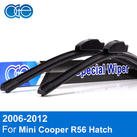 Combo Silicone Rubber Front And Rear Windscreen Wiper Blade For Mini Cooper R56 Hatch 2006 2012