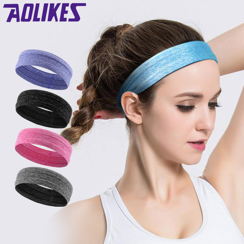 1 Pcs Hair Accessories Women Sports Sweatbands Yoga Fitness Headband Black Sweat Bands Men Elastic Silicone Anti-Skid Headscarf