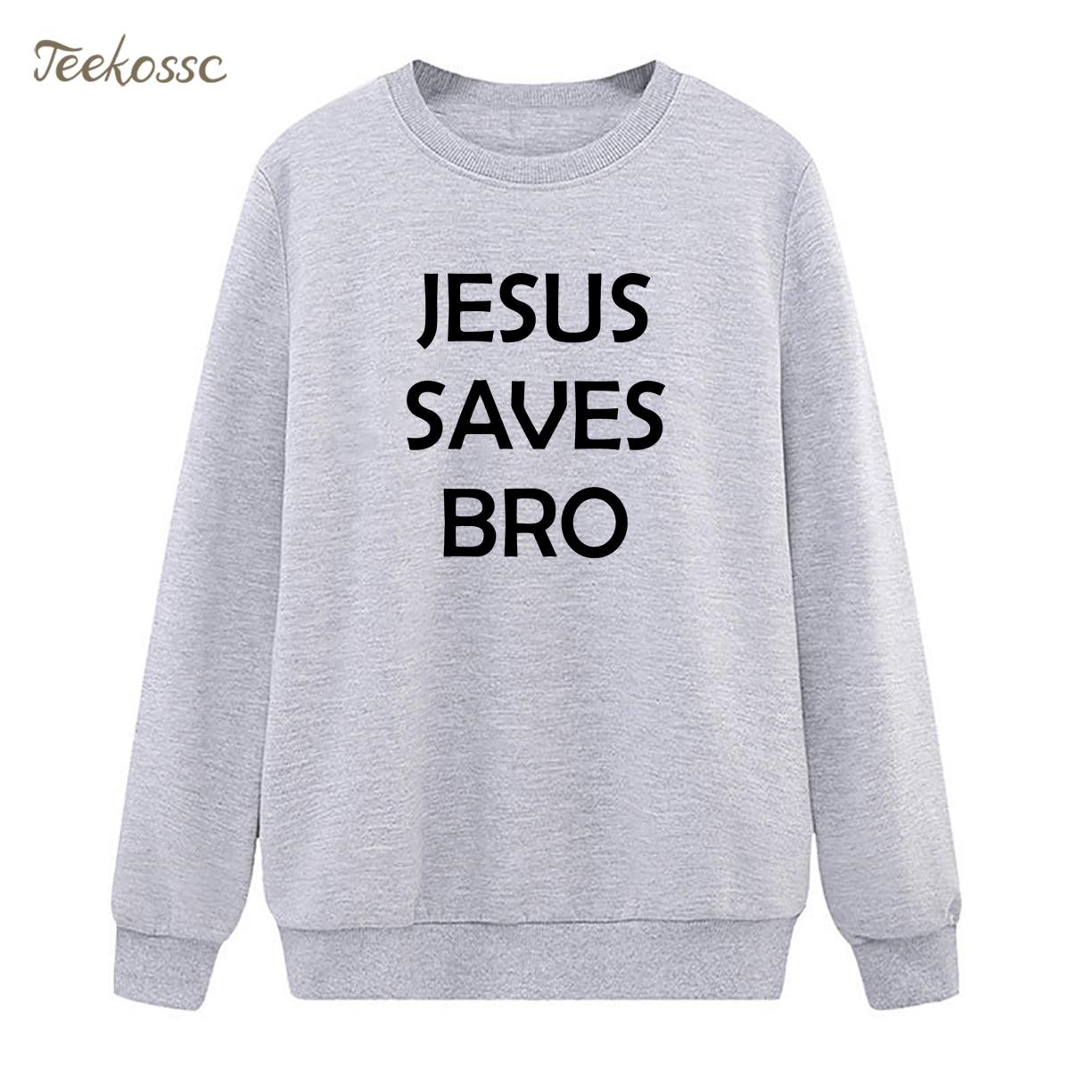 Jesus Saves Bro Print Super Jesus Christ Sweatshirts Womens Hoodie 2018 Hipster Winter Autumn Lady Loose Fleece Warm Sportswear