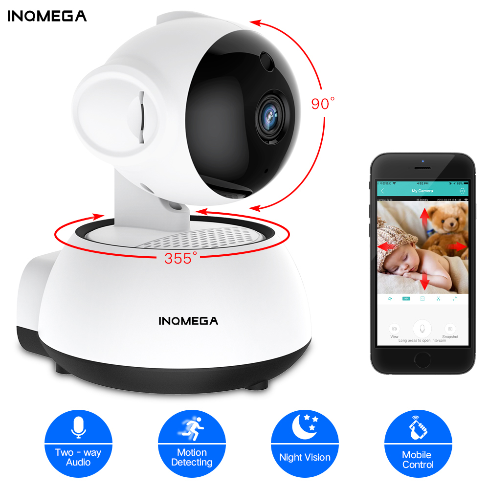 INQMEGA  Smart Wireless IP Camera Home Security  WiFi Camera Audio Record Surveillance Baby Monitor Mini CCTV Night Vision Camer