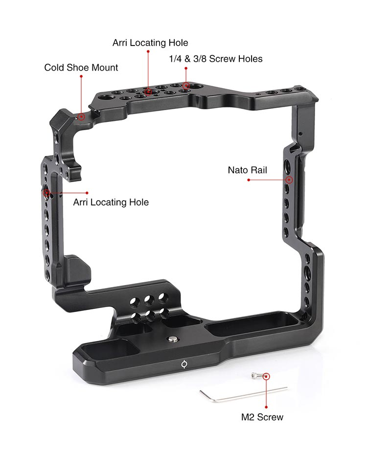 SmallRig DSLR Camera Cage for Fujifilm X T2 For Fuji X T3 Camera with Battery Grip 2229 in Camera Cage from Consumer Electronics