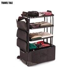 CARRYLOVE Большой Вместительный багаж для проверки багажа 3 слоя багаж на колесиках большой чемодан на колесиках