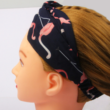 все цены на Women Girls Summer Bohemian Hair Bands Print Headbands Retro Cross Turban Bandage Bandanas HairBands Hair Accessories Headwear онлайн