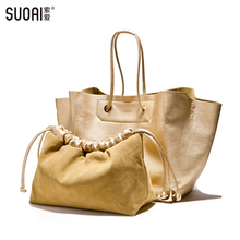 SUOAI New Arrive Picture Package Women Shoulder Bags Female Casual Tote Party Bags High Quality
