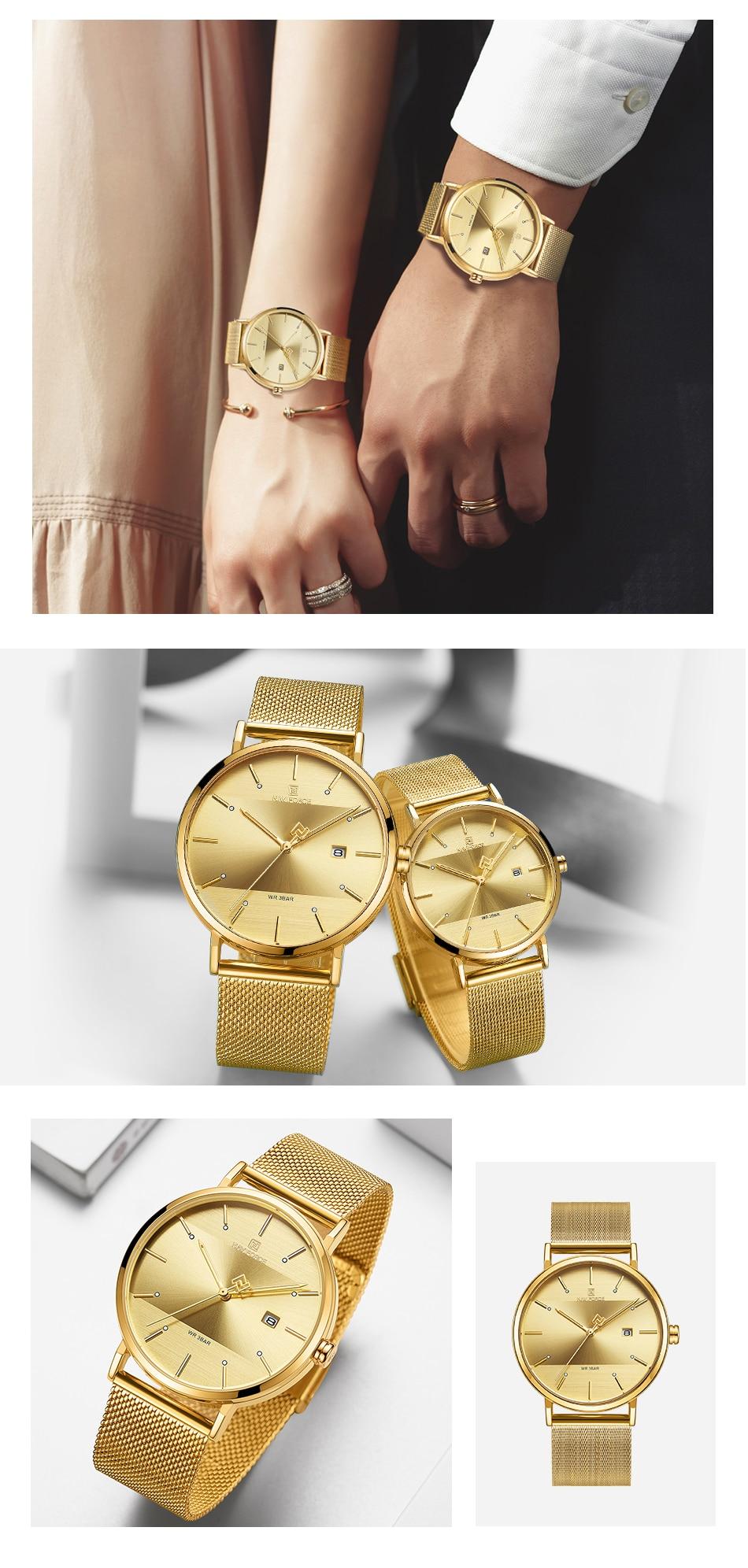 NAVIFORCE New Stylish Women Watches Top Brand Luxury Stainless Steel Strap Quartz Wristwatch For Woman Bracelet Watch 2019 Gift (18)