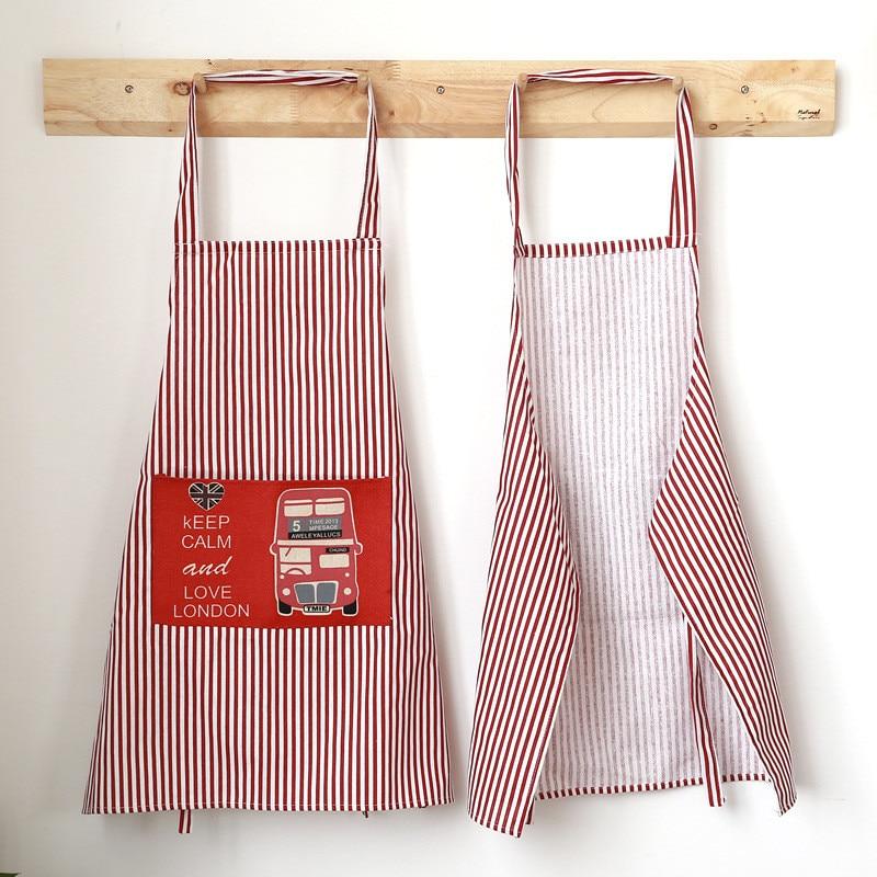 1 Pc Fashion Streep Schort Met Zakken Cafe Ober Kok Schort Keuken Cleaning Tools Beroemd Voor Geselecteerde Materialen, Nieuwe Ontwerpen, Prachtige Kleuren En Prachtige Afwerking