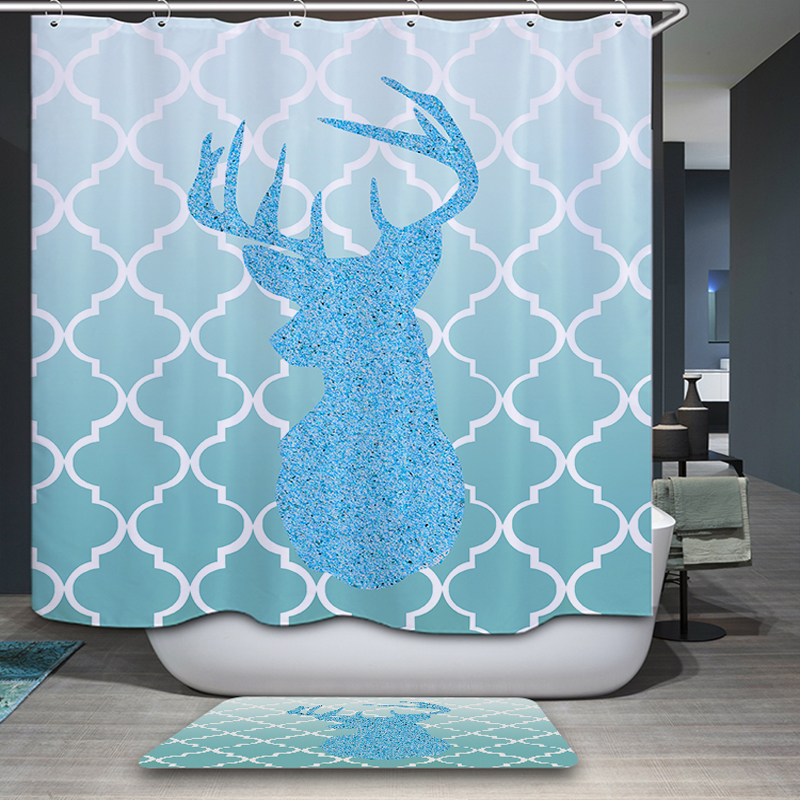 >Waterproof & Mildewproof Polyester Shower Curtain Nautical Anchor / Geometric / <font><b>Spanish</b></font> <font><b>House</b></font> Bathroom Decor With Hooks