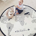 135CM Mother Care Baby Play Mat World Map Baby Blanket Winter Kids Floor Play Mat Travel Round Carpet zak bebek battaniye