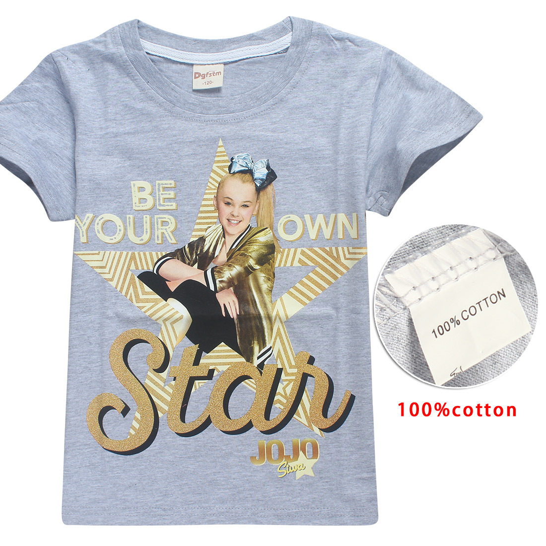 100% Cotton T-Shirts for Children 2018 Summer Jojo Siwa Baby Girls Tops Tees  + Hair Bows Toddler Moana Trolls Kids Clothes 6-14y d89814325848