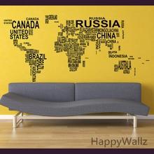 Decorating Muurtattoo Wereldkaart Kaart