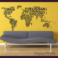 World Map Wall Sticker Map Of The World Wall Decal 3D Modern Wallpaper Map Wall Decal Decorating Modern Decor M35