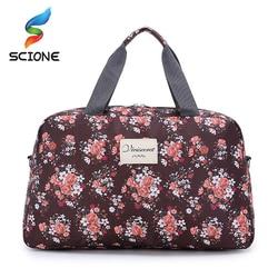 Женская спортивная сумка, вместительная, с цветочным принтом, многофункциональная, портативная, для путешествий, багажа, тренажерного зала,...