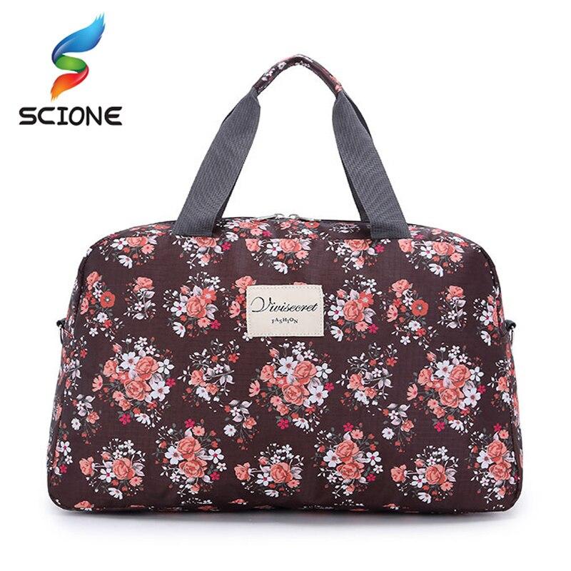 Caliente las mujeres dama de gran capacidad Floral bolsa bolsas bolsa de deporte multifunción portátil deportes de equipaje de viaje gimnasio bolsa