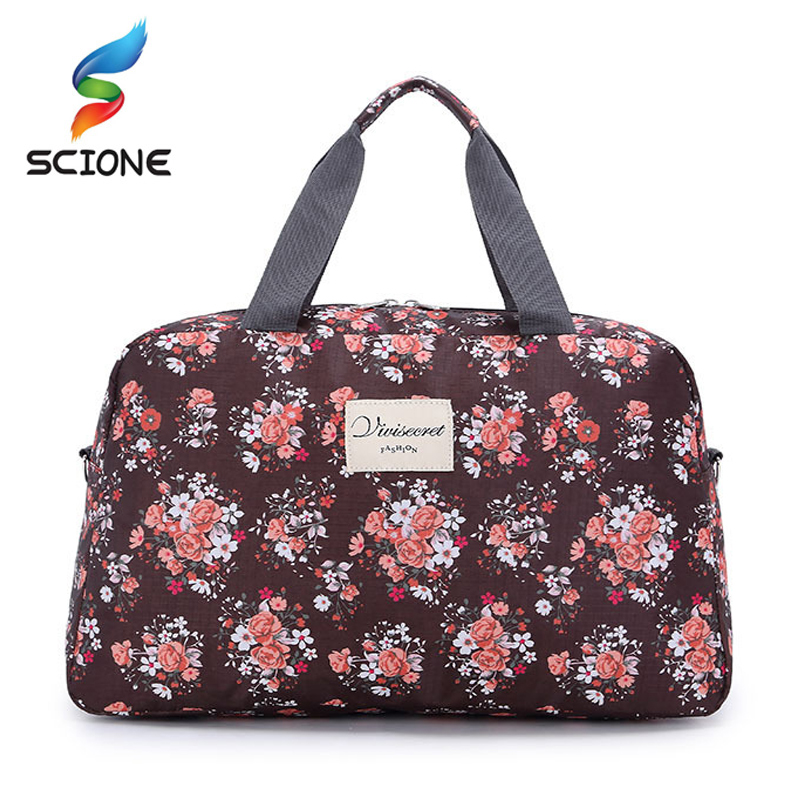все цены на Hot Women Lady Large Capacity Floral Duffel Totes Sport Bag Multifunction Portable Sports Travel Luggage Gym Fitness Bag