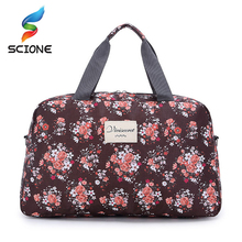 Hot Women Lady Large Capacity Floral Duffel Totes Sport Bag Multifunction Portable Sports Travel Luggage Gym